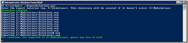 Export solutions using PowerShell